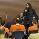Brian Welch speaking with inmates